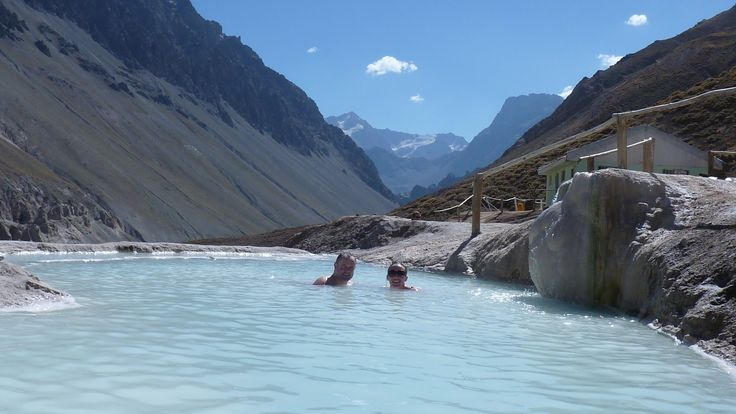 Hot Springs amidst the Andes mountain tops!