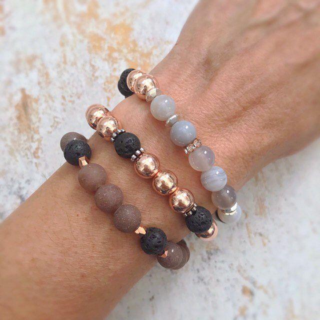 Essential oil Spiritual Healing Aromatherapy Bracelet Lion Head Aromatherapy Lava Bead Stretch Bracelet