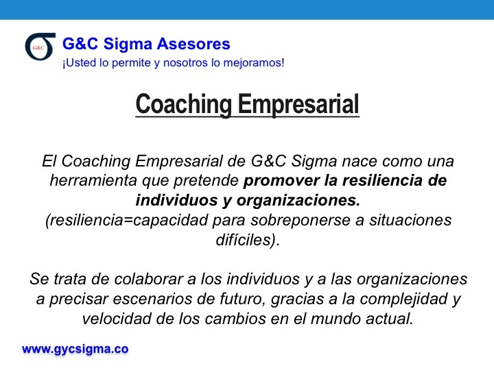 Coaching Empresarial G&C Lean Sigma