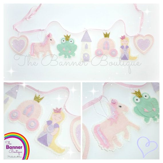 Sew your Own Princess Garland kit by TheBannerBoutiqueUK on Etsy, £17.00