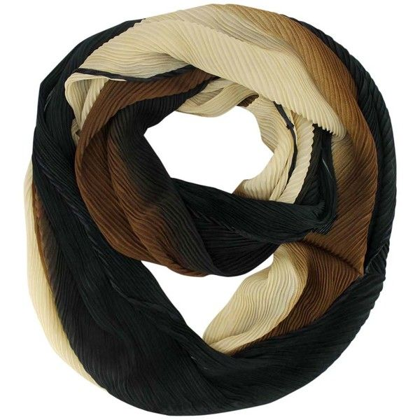 Brown Ombre Gradient Infinity Scarf (39 BRL) ❤ liked on Polyvore featuring accessories, scarves, grey, lightweight, gray scarves, grey infinity scarf, infinity scarves, lightweight infinity scarves and long scarves