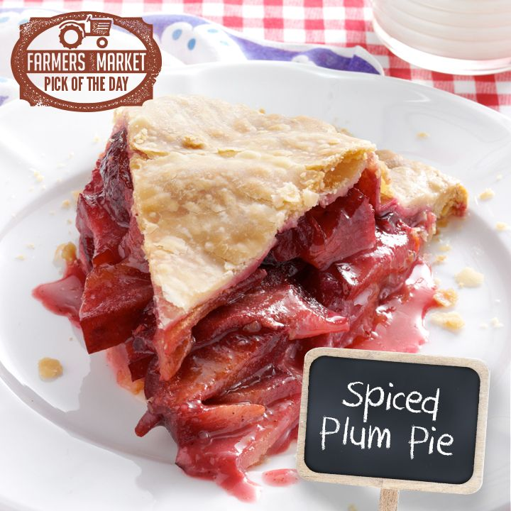 Spiced Plum Pie Recipe from Taste of Home