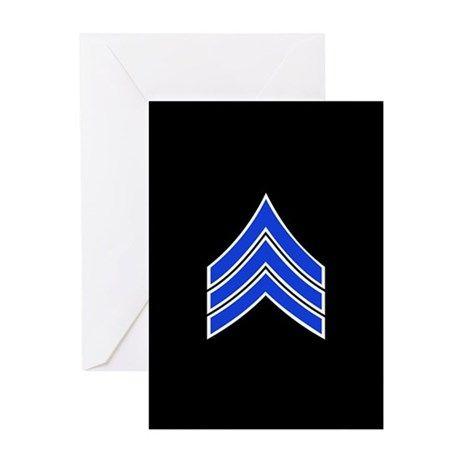 Police Sergeant (Blue) Greeting Cards on CafePress.com