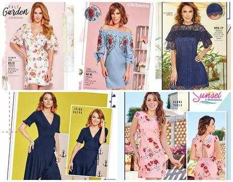 Catálogo de 56 Vestidos Cklass 2018. Aquí hallaras hermosos vestidos con las últimas tendencias de la moda mexicana. #Cklass #CatalogosMX