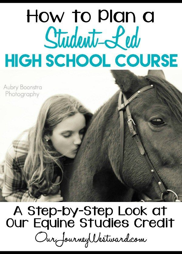 It's really not hard at all to plan a student-led high school class for your homeschool. See how we planned a high school equine study easily.