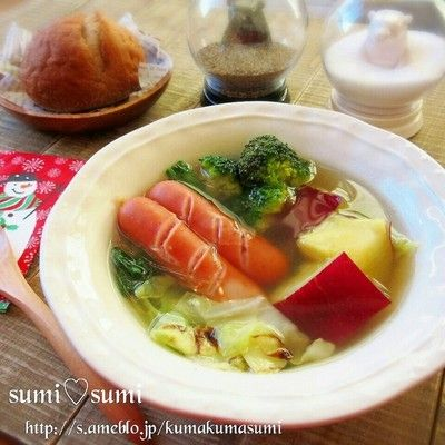 朝10分で♡生姜たっぷり♡さつま芋の中華風ポトフ