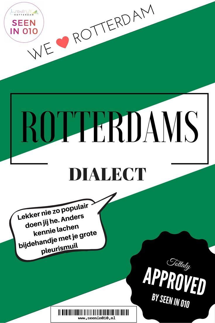 Zoals Lange Frans en Baas B ooit zongen 'Kom uit het land waar je doorheen rijdt, in drie uurtjes Met een ander dialect elke tien minuutjes'. Rotterdam is hier natuurlijk ook één van. Ik zal je meenemen in het Rotterdams dialect, waarschijnlijk ken je er al een hele hoop zonder het te beseffen en gebruik je het wellicht ook dagelijks.  #Rotterdam #Dialect #Nederland #Dutch #Taal #Seenin010