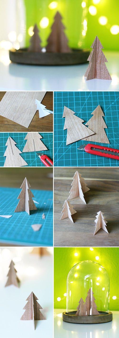 Mein neuestes Lieblingsmaterial ist Furnier! Einfach genial! Basteln mit Holz ohne schweres Werkzeug. Auch ganz toll für Weihnachten. Noch mehr Ideen findet ihr auf meinem Blog Gingered Things.