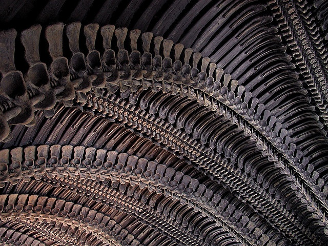 HR Giger Bar Arch by jpmartineau, via Flickr