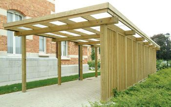 Wooden carport / for professional use - A.1 - Collstrop