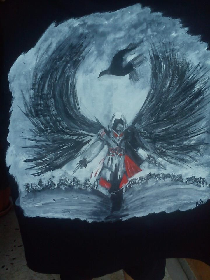 ezio,assasin's creed.page:www.facebook.com/pages/Anastasias-art-gallery/334822676627889