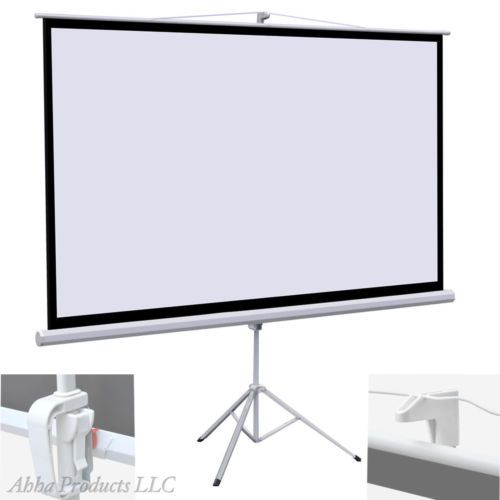 Large-100-16-9-Portable-Projector-TV-Screen-Free-Standing-Tripod-Stand-Foldable