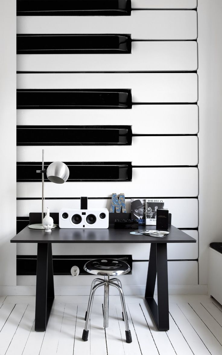 14 best bloom design objects images on pinterest home deco sound objects mural mr perswall wallpapers one of three giant scale black and white photo images of musical instruments this shows the keyboard