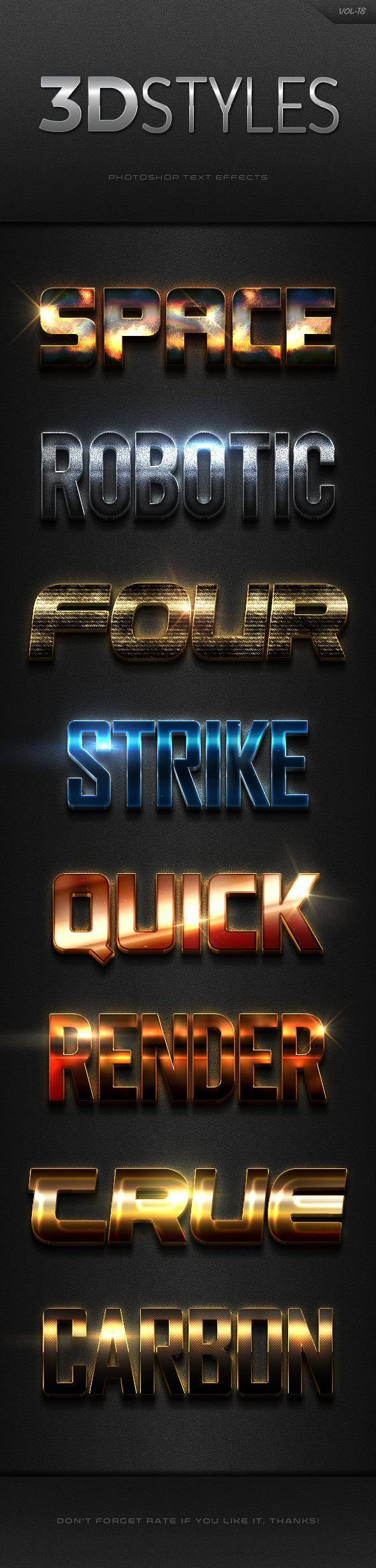 3D Photoshop Text Effects Vol.18 - Text Effects Styles