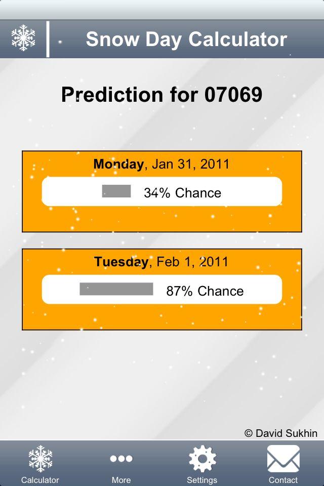 Everyone needs a Snow Day Calculator :)
