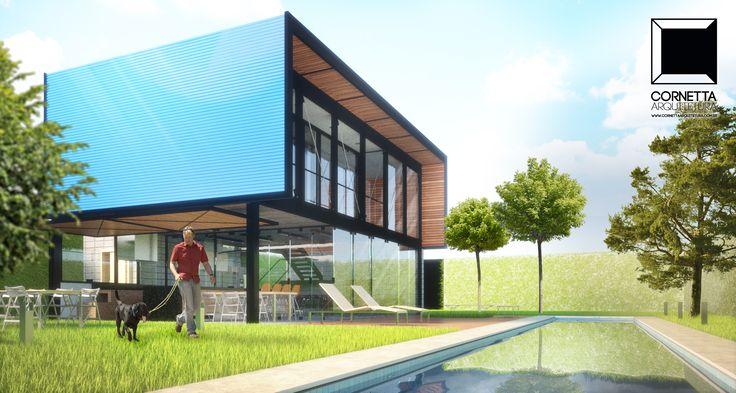 Projeto para loft assobradado em estrutura met lica - Casa tipo loft ...