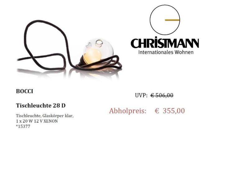 Angeboten wird hier eine Tischleuchte der Firma Bocci Modell 28 D,Glaskörper klar,1 x 20 W 12 V XENON*15377