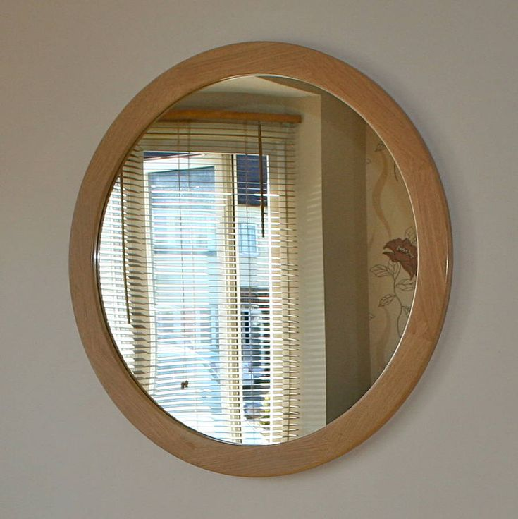 the big round oak mirror by squarepear furniture | notonthehighstreet.com