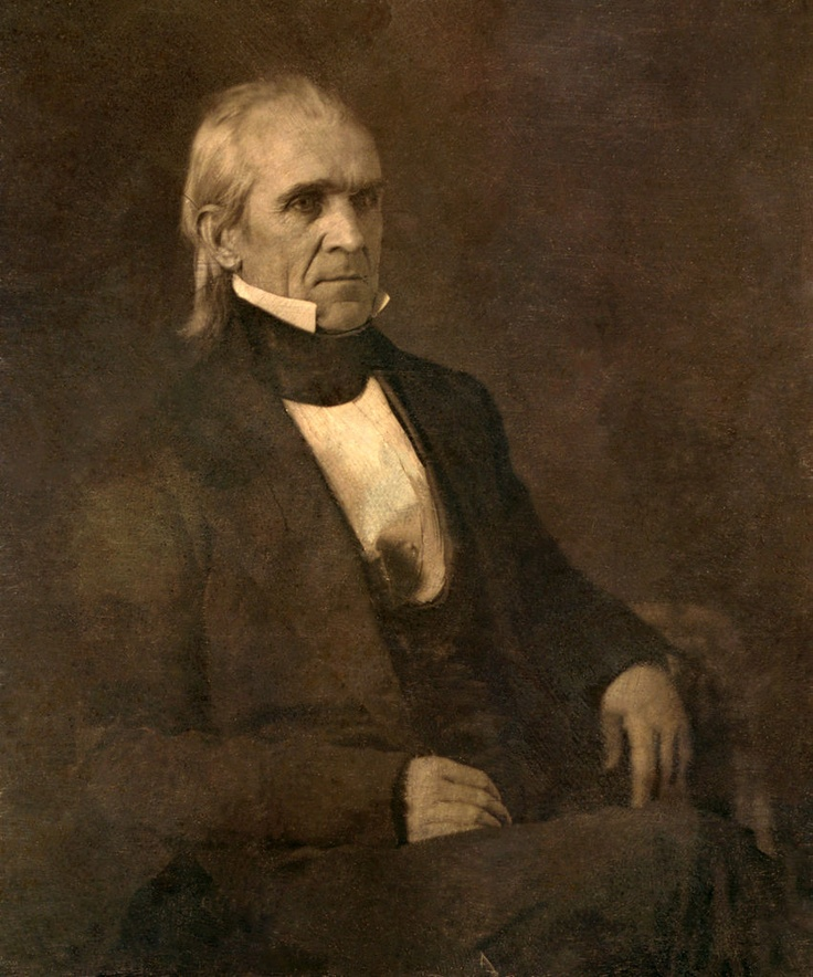 James Polk - The first acting U.S. president photographed in office (1845)