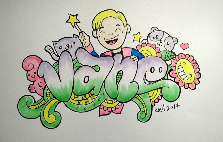 Vanessa #doodle #doodleart   #graffiti #lettering #copic #doodling #sketch #mandala #wafi #NUEST #flower #wash #zentangle #wellintencion