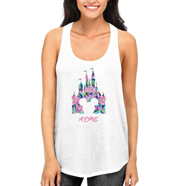 Disney Cinderella Home Castle Tank Top with Glitter and Lilly Pulitzer Prints