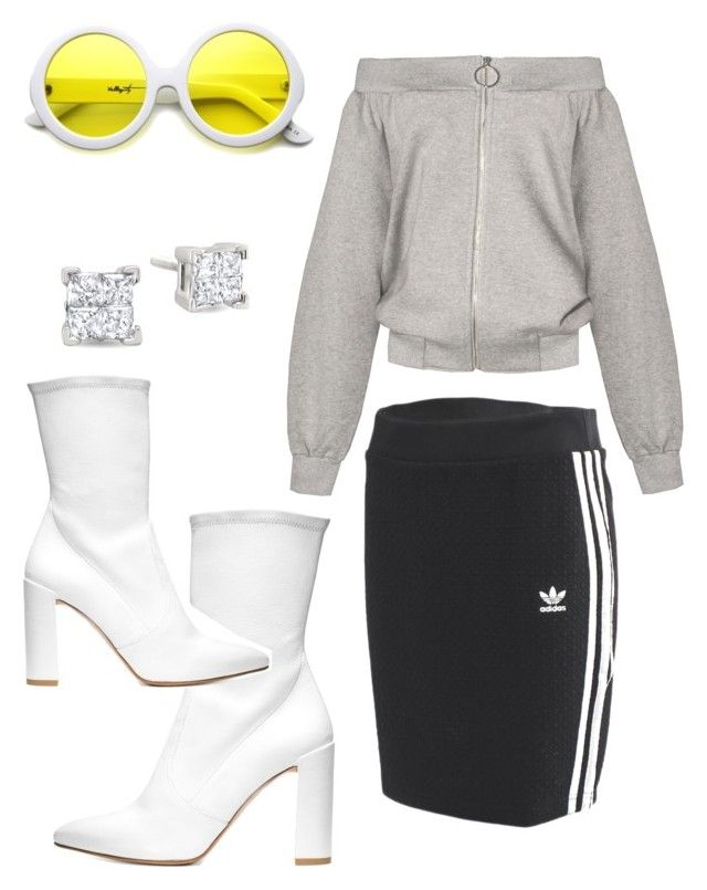 """""""Flashy"""" by asia-bateman ❤ liked on Polyvore featuring Stuart Weitzman, ZeroUV and adidas Originals"""