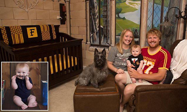 Dad creates a magical Harry Potter-inspired nursery for young son