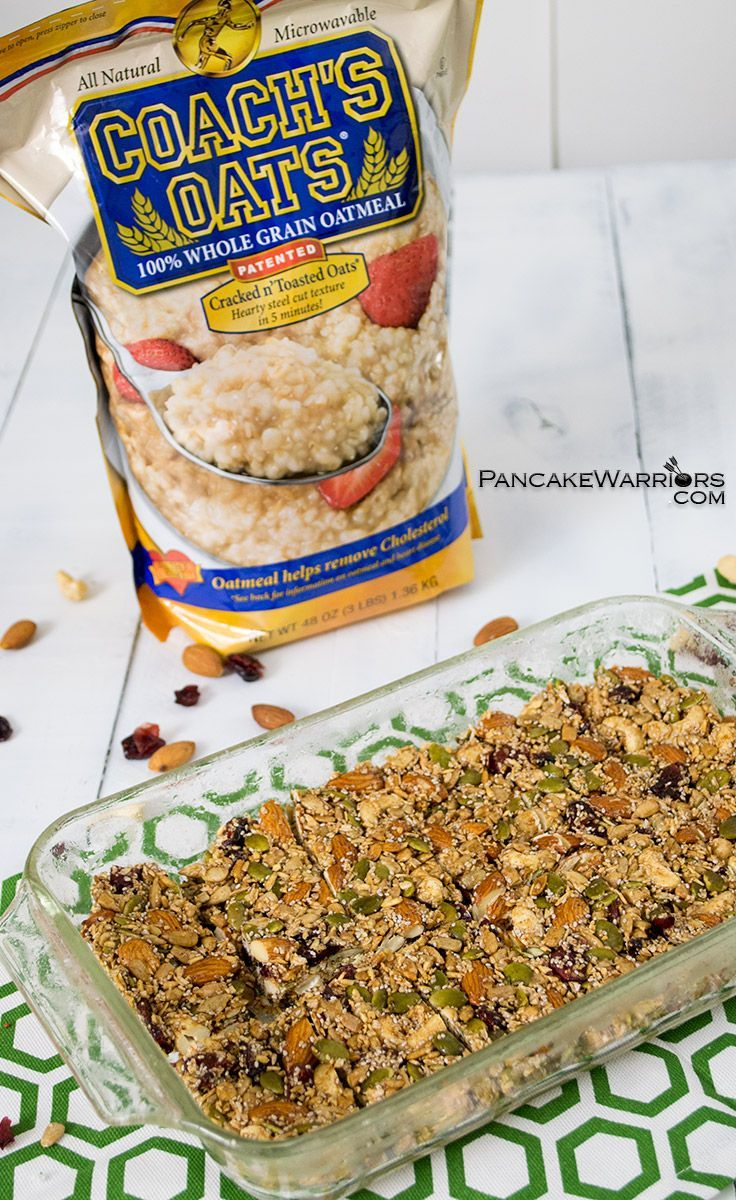 Perfect for snacking or fueling a long hike, these pumpkin spice trail mix bars are made with all natural ingredients, These trail mix bars are something you can feel comfortable giving your kids. Packed with nuts and steel cut oats, these bars are sure to leave you satisfied, instead of hungrier than when you ate them. | www.pancakewarriors.com