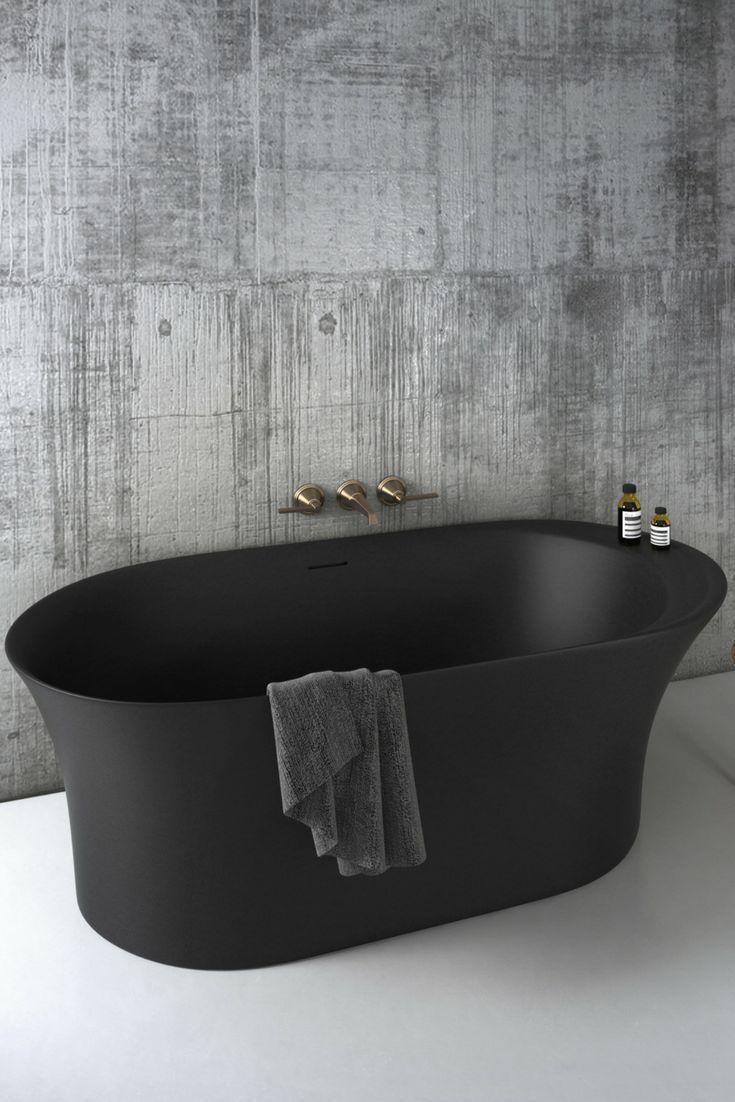 Opus Bathtub By Claybrook Interiors Black Bathtub Dark Bathtub Freestanding Modern Bathtub Bauernhaus Badezimmer Badezimmer Modernes Badezimmerdesign