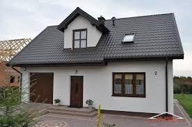 Znalezione obrazy dla zapytania grafitowy dach jaka elewacja