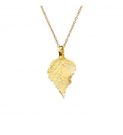 The Sweetest Thing Tiny Raspberry Leaf Necklace in 18k Gold