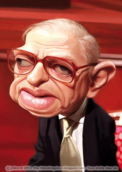 JP Sartre caricature