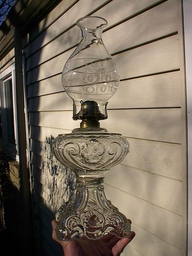 Coal Oil Lanterns Old Large Ornate 1890s Princess