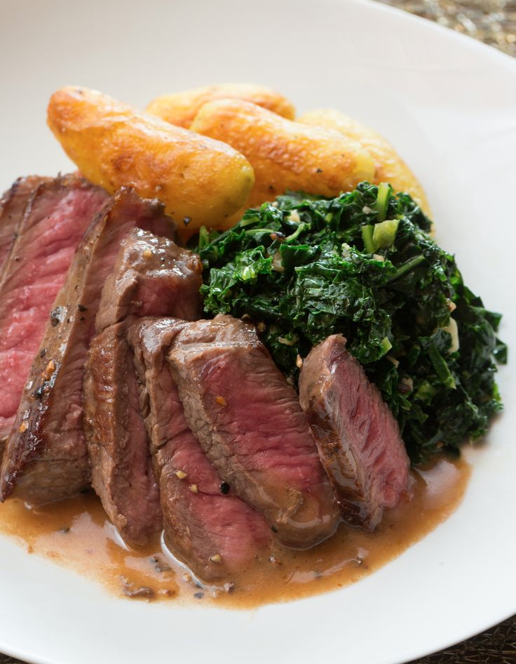 The French bistro's in your kitchen tonight - serving up this peppercorn cream sauce covered steak.
