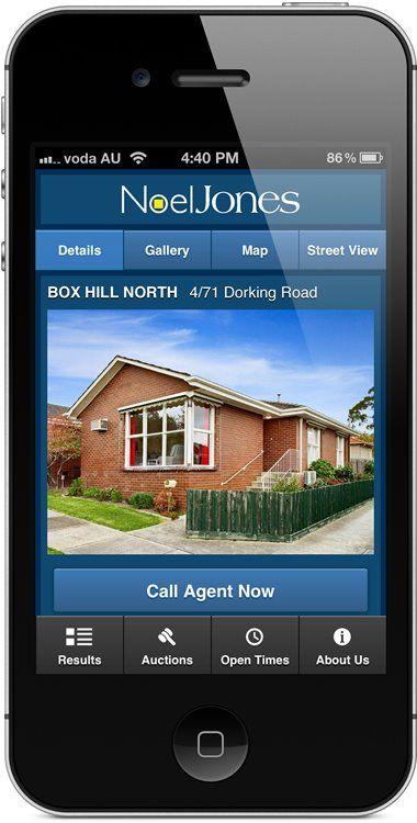 noeljones.com.au - mobile website - property details.
