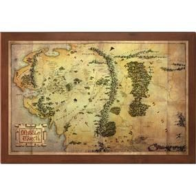 The Hobbit: Map: Middle Earth @ ForbiddenPlanet.com