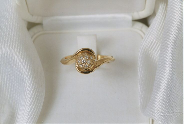 Bague diamants «boule de neige»   Bijoutier & Joaillier André PETIT