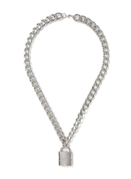 AAA Silver Look Padlock Necklace* - New This Week - New In - TopMan Singapore