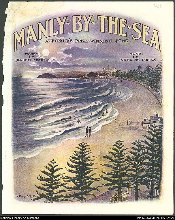Robins, Nicholas. cmp Manly-by-the-sea [music] - Front Cover