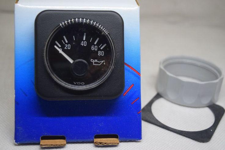 VDO GAUGE  350 201D 10 180OHM 80PSI OIL PRESS
