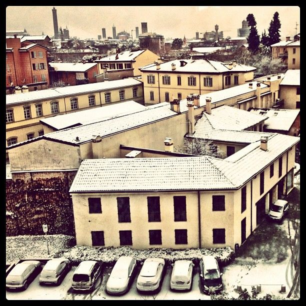 Waking up to a snowy morning here in Bologna - Instagram by @Erin De Santiago