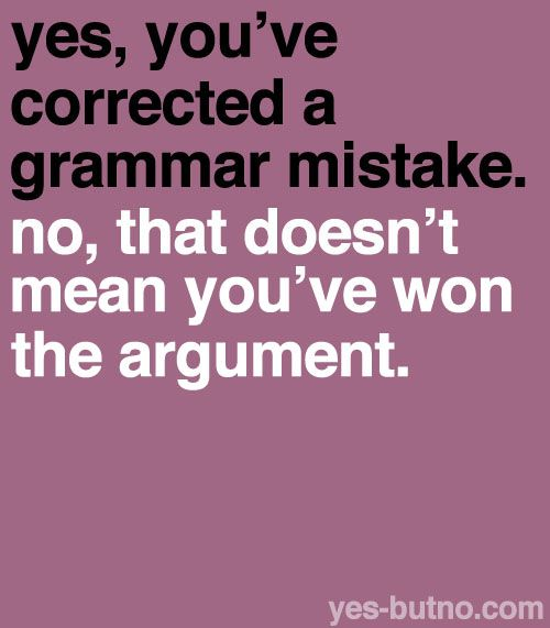 Correction of grammar sentences