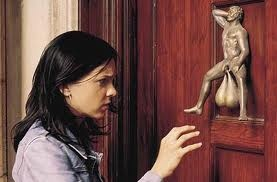 yikes?....now those are some big knockers....Knockknock, The Doors, Funny Movie, Front Doors, Jehovah Witness, Funny Stuff, Humor, Knock Knock, Doors Knockers