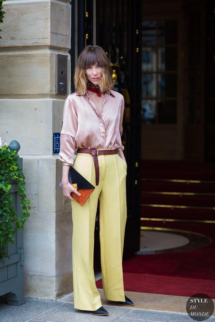 Anya Ziourova Street Style Street Fashion Streetsnaps by STYLEDUMONDE Street…