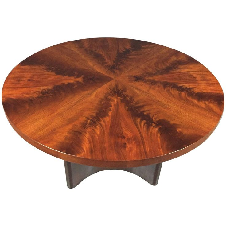 Swedish Art Deco Crotch Mahogany Coffee Table, Dated 1940 | Mahogany Coffee  Table, Antique Coffee Tables And Tables