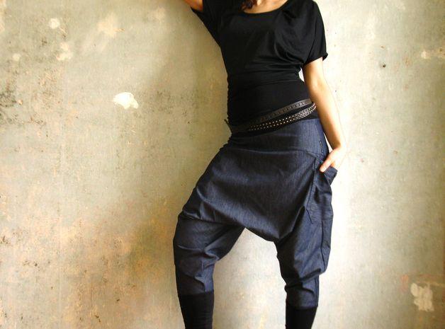 """Jeans - Pumphose """"DENIM_LOVE"""" - ein Designerstück von wildfutter bei DaWanda"""