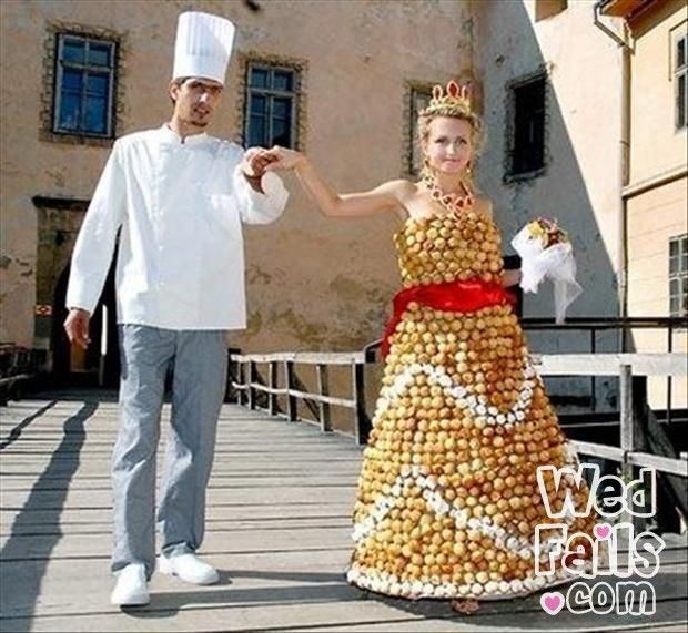 Horrible Wedding Dresses: WedFails - Ferrero Rocher Wedding Dress