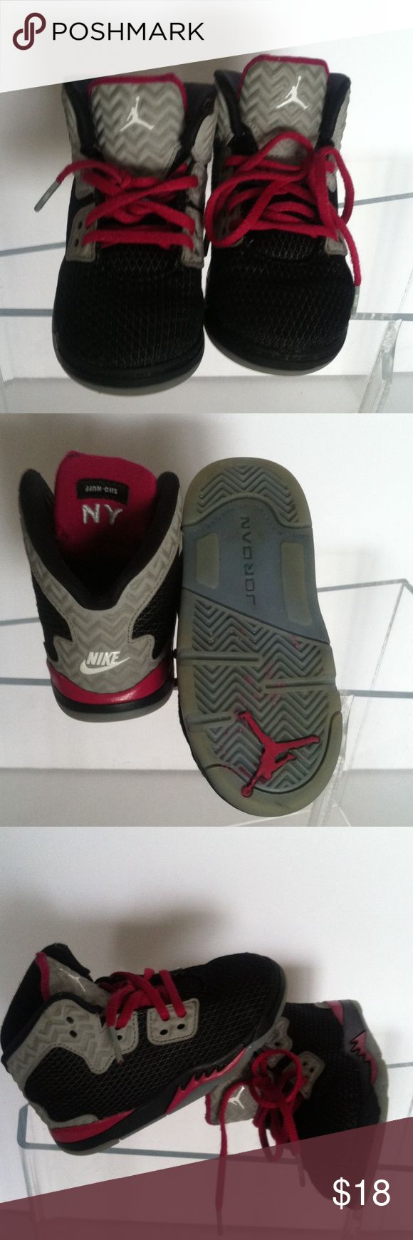 Pink black and grey Air Jordan's sz8c Gently worn child's sz 8 as pictured Air Jordan Shoes Baby & Walker