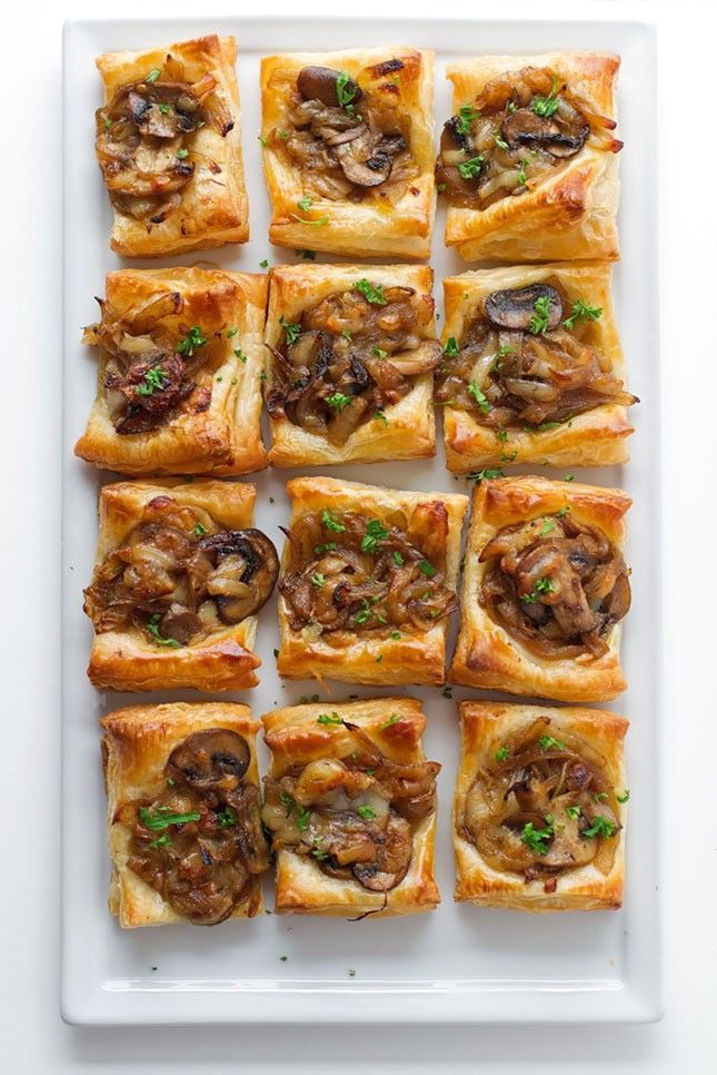 21 make ahead thanksgiving appetizer recipes to make your for Puff pastry canape ideas