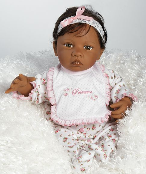 """African American Realistic Baby Dolls   Details about Baby Rihanna, 19"""" African American Baby Doll (Lifelike)"""
